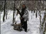Охота на оленя по зимой